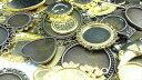 ミール皿 30枚セット 金古美&ゴールド 福袋/種類イロイロ詰め合わせ/カメオ 台座レジン ハンドメイド パーツ