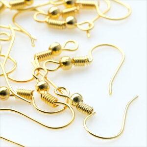ゴールド ピアスフック 20個セット 金 ピアスパーツ フック アクセサリー パーツ ハンドメイド 金具 金属 素材 材料