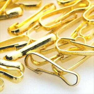 フッククリップ 約100個セット ゴールド 甲 丸 バチカン 金 アクセサリー ハンドメイド パーツ 接続金具 金属 素材 材料
