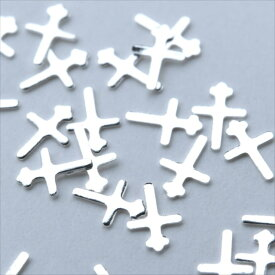 k35 メタルスタッズ シルバー クロス 十字架 10個セット 銀 ネイルパーツ メタルパーツ メタリック アクセサリー デコ パーツ 財布 バッグ スマホ ハンドメイド