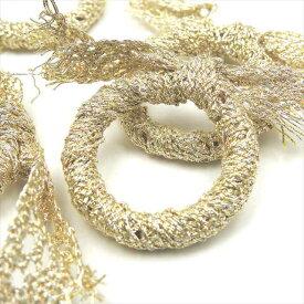 リングパーツ リボン 40mm 4個セット ゴールド ベージュ 輪 スカーフ アクリル パーツ リング アクセサリー 手芸 ハンドメイド