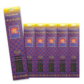 ★ネコポス送料無料★ MISTICKS INCENSE STICK NAG CHAMPA 6PCS / ミスティックス インセンス スティック ナグチャンパ 6個セット(120本) / Room Fragrance お香
