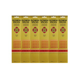 ★ネコポス送料無料★ GONESH INCENSE STICK CINNAMON 6PCS / ガーネッシュ インセンス スティック シナモン 6個セット(120本)/ Room Fragrance お香