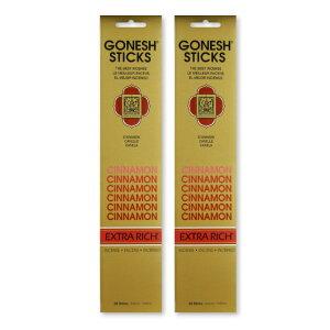 ★ネコポス送料無料★GONESH INCENSE STICK CINNAMON 2PCS / ガーネッシュ インセンス スティック シナモン 2個セット / Room Fragrance お香