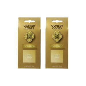 ★ネコポス送料無料★ GONESH INCENSE CONE VANILLA 2PCS / ガーネッシュ インセンス コーン バニラ 2個セット / Room Fragrance お香