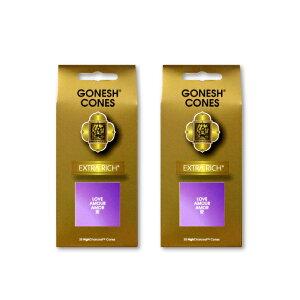 ★ネコポス送料無料★ GONESH INCENSE CONE LOVE 2PCS / ガーネッシュ インセンス コーン ラブ 2個セット / Room Fragrance お香