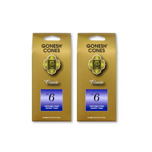 ★ネコポス送料無料★ GONESH INCENSE CONE NO.6 2PCS / ガーネッシュ インセンス コーン NO.6 2個セット / Room Fragrance お香