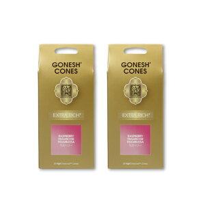★ネコポス送料無料★ GONESH INCENSE CONE RASPBERRY 2PCS / ガーネッシュ インセンス コーン ラズベリー 2個セット / Room Fragrance お香