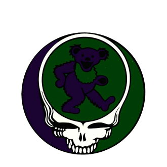 !! Steal your face bear window sticker / GRATEFUL DEAD grateful dead SYF window car motorcycle seal