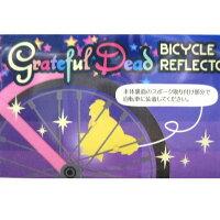 【交通安全】グレイトフルデッドベアヘッドリフレクター自転車用反射材・全4色/オフィシャル/デッドべアバイク反射板自転車アクセサリー/BEARHEADBICYCLEREFLECTOR【GRATEFULDEAD】【OUTDOOR】