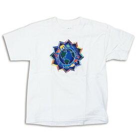 【 A MEDALLION WHITE T-SHIRTS 】【 グレイトフルデッド メダリオンTシャツ ホワイト 】動物 地球 ロック WOMAN