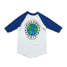 【 BEAR AROUND THE EARTH BASEBALL TEE 】【 ベアー アラウンド アース ベースボールTシャツ 七分丈 】グレイトフルデッド アメカジ ラグラン Tシャツ