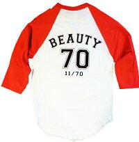 【BBT】グレイトフルデッドビューティーベースボールTシャツ七分丈/オフィシャル【デッドベアー半端丈TシャツロックTアメカジラグランTシャツ】BEAUTYBASEBALLT【GRATEFULDEAD】【TOPS】【66060BB1】