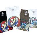 【限定】グレイトフルデッド インディアン 50周年Tシャツ・全2色/オフィシャル【50周年記念モデル 数量限定 ネイティブ 骸骨】GD 50TH …