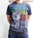 【 FREEDOM FESTIVAL DARK BULE HEATHER POLY-COTTON TEE 】【 ウッドストック フリーダム フェスティバル Tシャツ 】WOODSTOCK