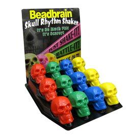 【 SKULL RHYTHM SHAKER 】スカル リズム シェイカー 6カラー / マラカス 楽器 トイ おもちゃ パーティー グッズ ハロウィン