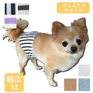 HARZth ハーズ マナーベルト 幅広M 犬ベルト マーキング防止 ゴム入り 簡単着脱 小型犬 中型犬 介護犬 介護ベルト ウエストサイズ 40〜47 マナーベルト犬 シニア犬