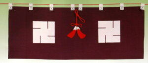 神棚・神具 御神幕 【地蔵卍紋】56号 ブロード生地