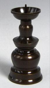 仏具用品 玉ダルマ火立 2寸真鍮製 黒光色