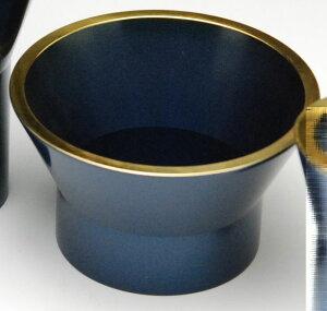 仏具・詩杯型【単品販売】 詩杯型 前香炉(机上香呂)茄子紺色入