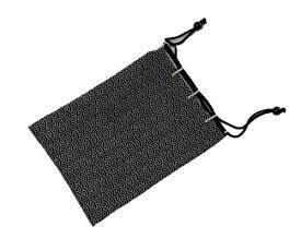 【合切袋】【合財布】【信玄袋】【巾着】【印伝調】【青海波】【白】【黒地】