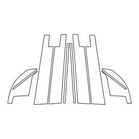 【15日〜18日は独自ポイント10倍!】ハセプロ《マジカルアートシート》ピラーフルセット バイザーカットタイプ トヨタ ライズ A200系 2019.11〜