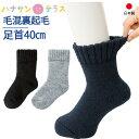 日本製 介護 靴下 毛混 あったか 裏起毛 毛布 ソックス メンズ 紳士用 あたたかい 介護用靴下 履き口広い 約40cm ゆっ…