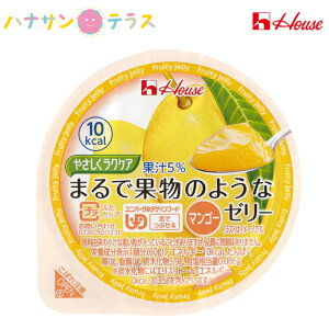 介護食 区分3 舌でつぶせる やさしくラクケア まるで果物のようなゼリー マンゴー 60g ハウス食品 日本産 低カロリー エネルギー調整 カロリー調整 ゼリー