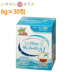 介護食 サンファイバーAI 6g×30包 太陽化学 栄養補給 水溶性食物繊維 グァーガム酵素分解物 グアーガム分解物 グァー豆 おなか 整える すっきり