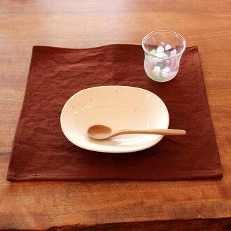 柿子不染色尾道帆布的午餐垫子餐具化学染料不使用抗菌防水