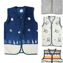 着る毛布 ベビー スリーパー マイクロファイバー ベスト かわいい 寝冷え防止 ギフト 出産祝い 送料無料