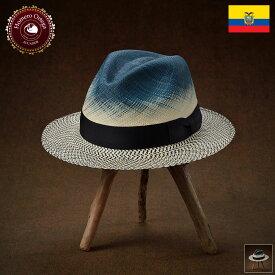パナマ帽 メンズ レディース パナマハット ストローハット 中折れハット S M L XL ブルー パナマ帽子 紳士帽 メンズハット 帽子 ハット エクアドル 大きいサイズ あす楽 プレゼント Homero Ortega マレーア 送料無料