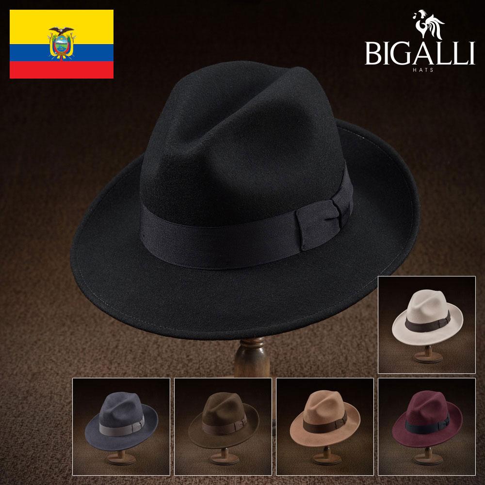 【中折れハット/BIGALLI(ビガリ)】ELRIC(エルリック)≪帽子の本場エクアドル製リーズナブルなウールフェルト帽。メンズ/レディース/紳士/帽子/ハット/大きいサイズ/父の日ギフト/あす楽≫