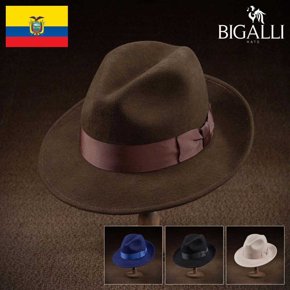 【フェルトハット(中折れハット)/BIGALLI(ビガリ)】PASODOBLE(パソドブレ)≪高品質でありながらもリーズナブルなウールフェルト帽。メンズ/レディース/紳士/帽子/ハット/大きいサイズ/父の日ギフト/あす楽≫