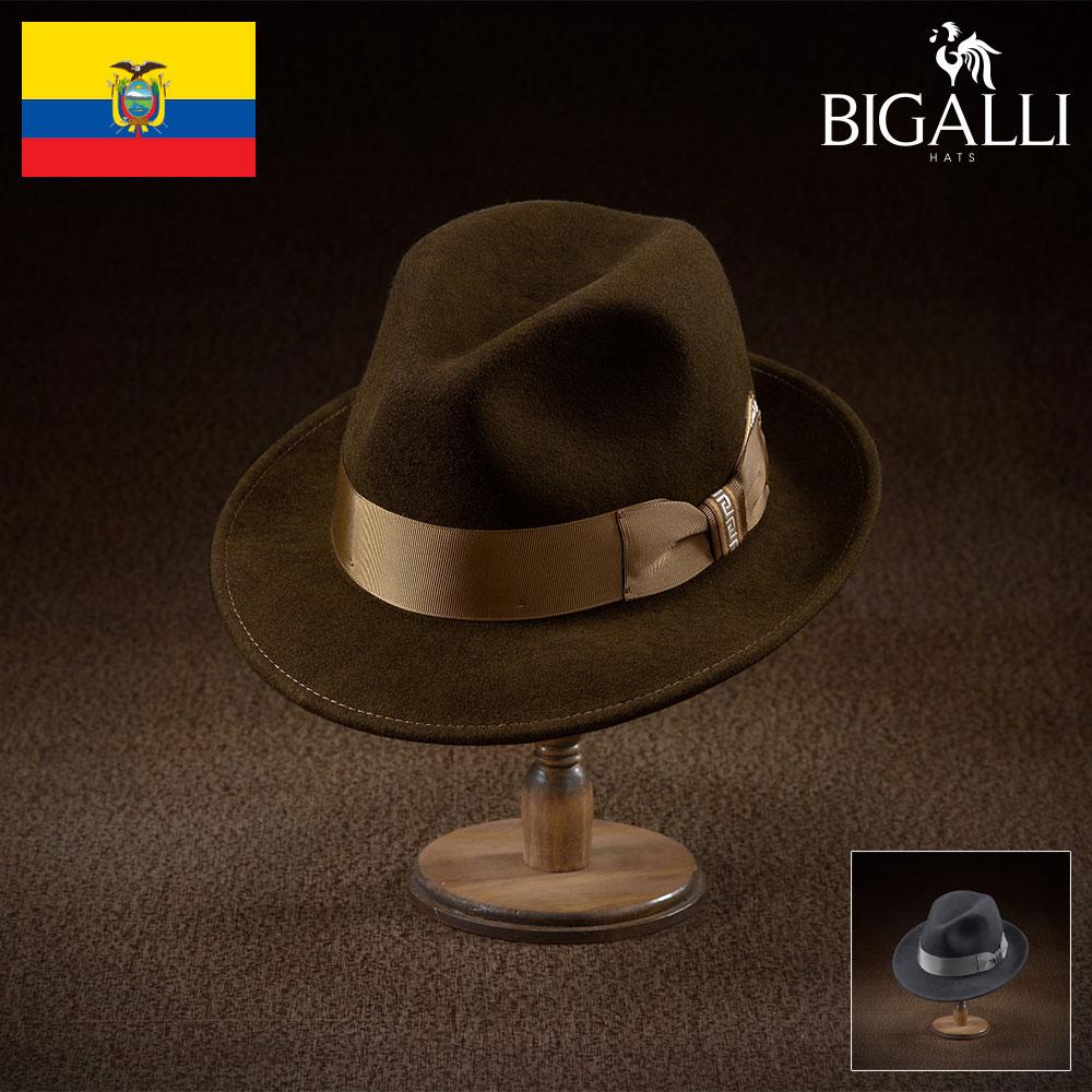【フェルトハット(中折れハット)/BIGALLI(ビガリ)】EL GLOSA(エル グローサ)≪高品質でありながらもリーズナブルなウールフェルト帽。メンズ/レディース/紳士/帽子/ハット/大きいサイズ/父の日ギフト/あす楽≫