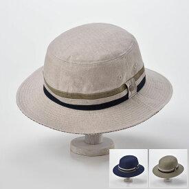 【ソフトハット/DAKS(ダックス)】Saferi Linen Ox D1608(サファリ リネン オックス D1608)≪メンズ/紳士/英国王室御用達ブランドの中折れ帽 帽子 ナチュラル ネイビー カーキ 父の日 あす楽≫