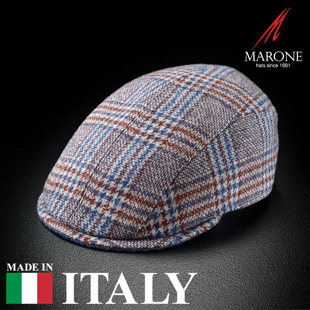 【高級ハンチング帽(キャスケット)/MARONE(マローネ)】Riva(リーヴァ)≪おしゃれなデザインの生地を使用したイタリア製ハンチング(キャスケット)メンズ/レディース/紳士/帽子/ハット/大きいサイズ/父の日ギフト/あす楽≫