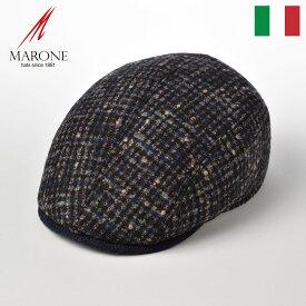 MARONE ハンチング帽子 メンズ 秋冬 大きいサイズ イタリア製 レディース 紳士帽 アルパカ混 マルチカラー おしゃれ ハンチングキャップ 鳥打帽 ギフト プレゼント 送料無料 父の日 あす楽 マローネ フォーパネルベレット BT883