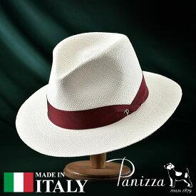 メンズ パナマハット パナマ帽 中折れ帽子 フェドラハット 帽子 レディース 紳士 春夏 S M L XL Panizza パニッツァ [サモーラビアンコ] 紳士帽 メンズ帽子 紳士ハット ギフト プレゼント 送料無料 あす楽