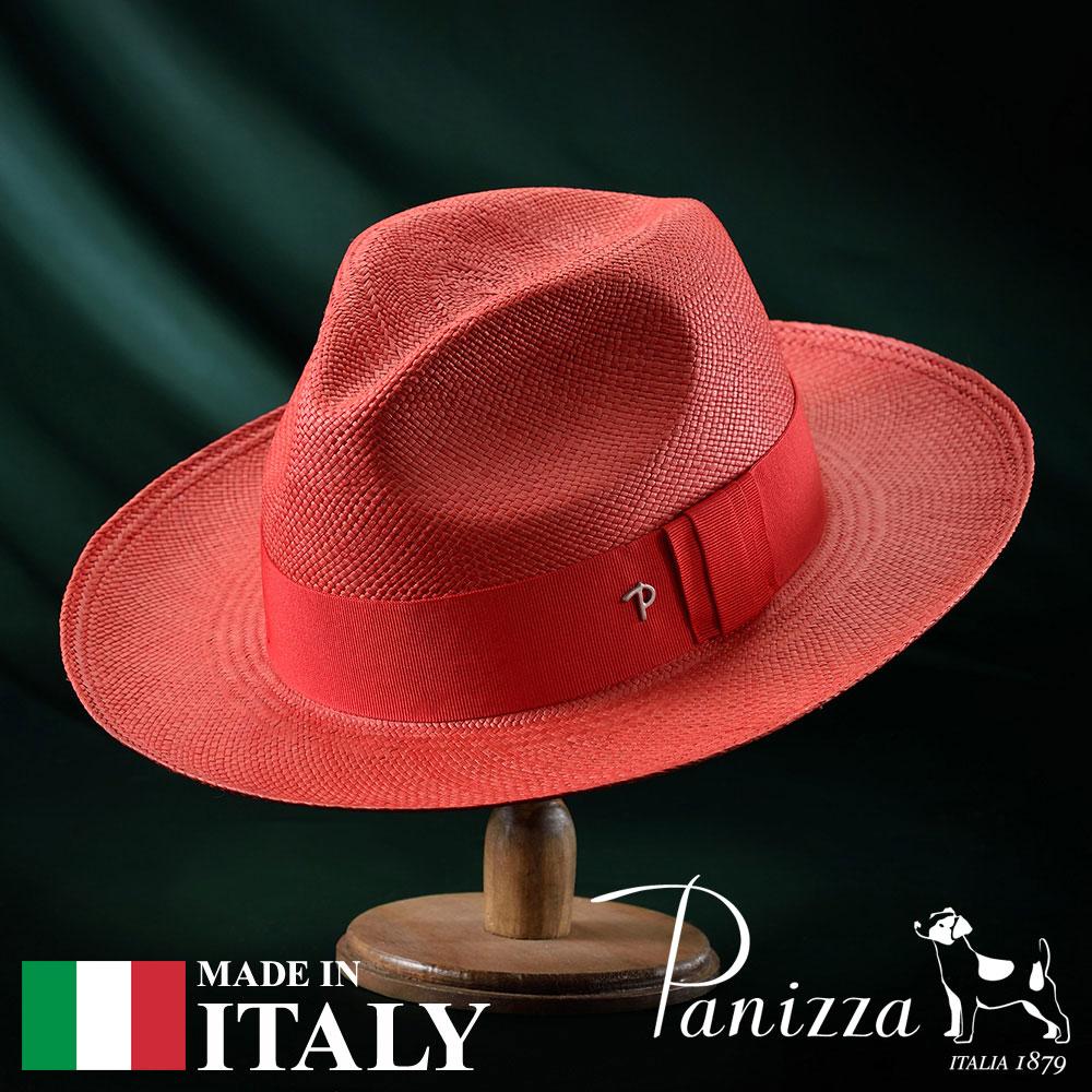 【高級パナマハット(パナマ帽)/Panizza(パニッツァ)】PUYO ROSSO(プジョ ロッソ)≪イタリアの高級老舗ブランドが作るおしゃれなパナマハット(中折れハット)メンズ/レディース/紳士/帽子/ハット/大きいサイズ/父の日ギフト/あす楽≫