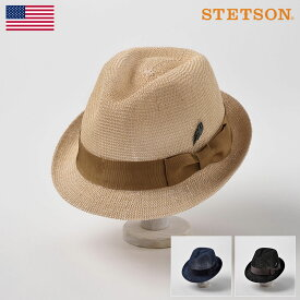 【高級ストローハット/STETSON(ステットソン)】MANISH SH737(マニッシュ SH737)≪アメリカを代表する帽子ブランドが作るストローハット/57cm/59cm/ベージュ/ブラック/ネイビー/メンズ/レディース/紳士/帽子/ハット/あす楽≫