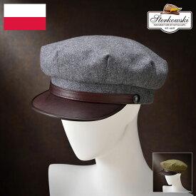 キャスケット メンズ レディース ニュースボーイキャップ ハンチング帽 クラシカル グレー オリーブ S M L XL XXL 風船帽 ビンテージ 紳士帽 メンズハット 帽子 ハット 大きいサイズ あす楽 プレゼント Sterkowski ヴァルハラ