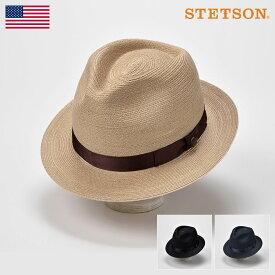 【高級ストローハット/STETSON(ステットソン)】MANISH BRAID LINEN SE433(マニッシュ ブレード リネン SE433)≪アメリカを代表する帽子ブランドが作るストローハット/58/60cm/ベージュ/ブラック/ネイビー/マニラ麻/アバカ/メンズ/レディース/紳士/帽子/ハット/あす楽≫
