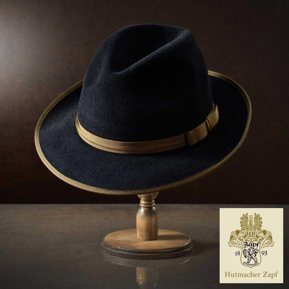 【高級フェルトハット(フェルト帽)/Zapf(ツァップ)】Altaussee(アルトアウスゼー)≪オーストリア製チロリアンハット、最高級品質のラビットファーフェルトを使用した中折れハット(中折れ帽)メンズ/レディース/紳士/帽子/ハット/大きいサイズ/父の日ギフト/あす楽≫