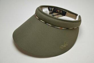 DAKS Daks water repellency processing clip sun visor (green / beige / red / tea / dark blue / black) D7913