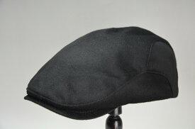 RETTERレッター イタリアMTR社の生地使用 カシミアメンズハンチング (ブラック) サイズ調節付き S〜LL 秋冬 ハンチング帽 日本製 紳士帽子 男性 RE-H-2009072