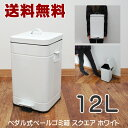 【送料無料】12L ペダル式 ペール ゴミ箱 スクエア ゴミ箱 フタ付き ふた付き ダストボックス ごみ箱 キッチ…