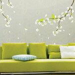 ウォールステッカー桜と雲雀KR-0021