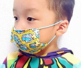 【waka-made】ハンドメイド ガーゼ素材のおしゃれマスク*こどもサイズ【ネコポス対応】