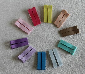 【plume】【まとめ買い対象】ベビーヘアクリップ シンプルベーシック 同色2個セット【ネコポス対応】